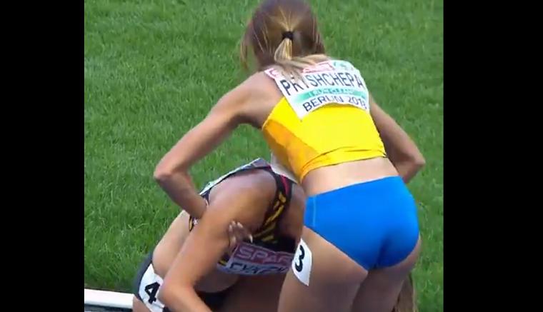Украинская легкоатлетка помогла сопернице добраться до финиша (видео)