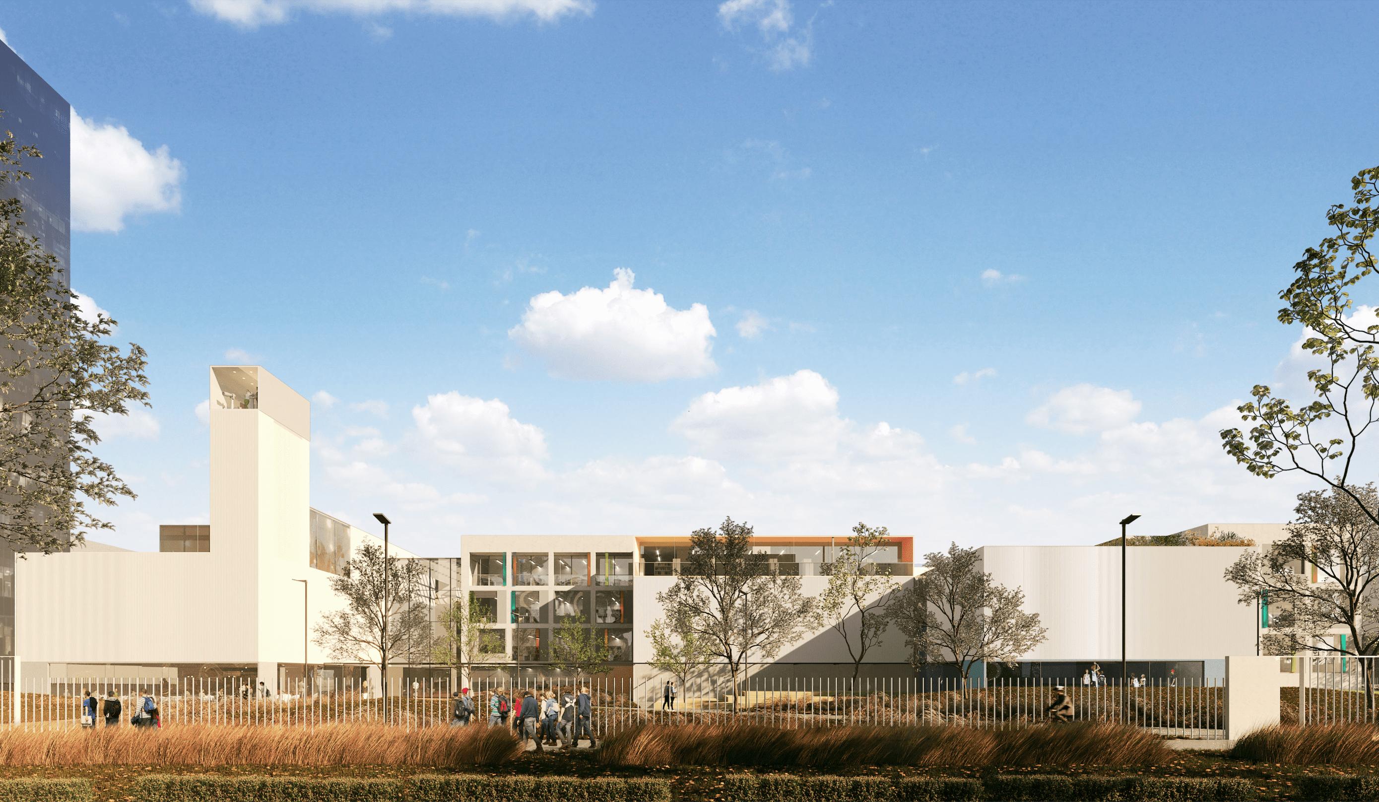 Натерритории UNIT.City начали строить школу: как она будет выглядеть