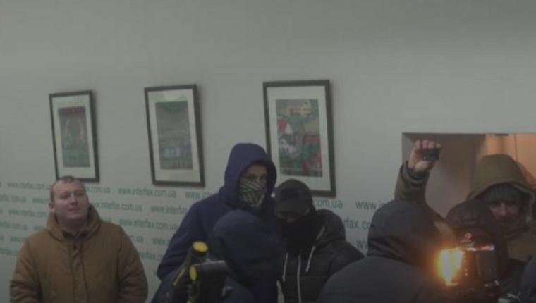 Вофис «Интерфакс-Украина» ворвались неизвестные вмасках